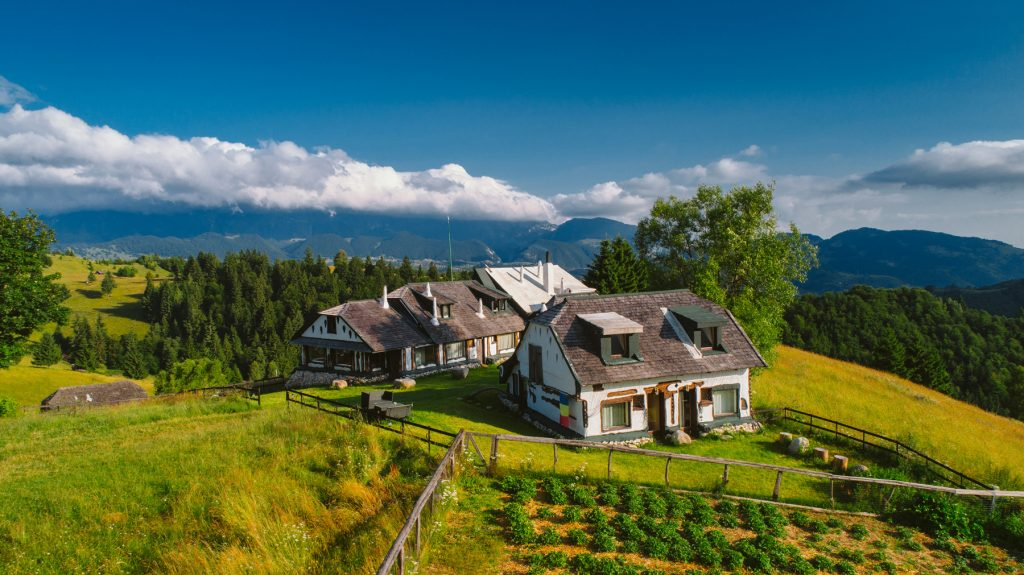 Romania remote farm in the carpatian mountains